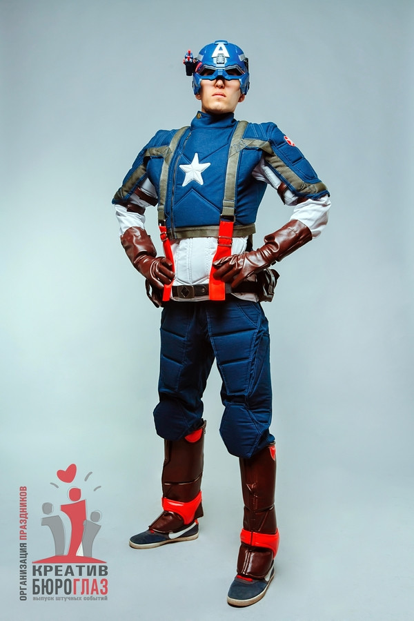 Аниматоры для детей Капитан Америка - фото 3