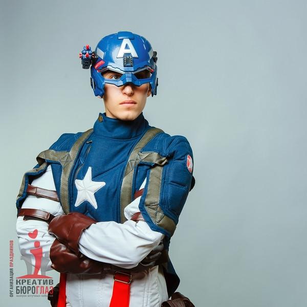 Аниматоры для детей Капитан Америка - фото 4