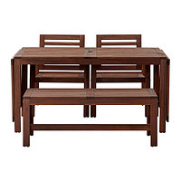 Стол+2 скамьи, д/сада, коричневая морилка ЭПЛАРО