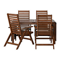 Стол+4 кресла, д/сада, коричневая морилка ЭПЛАРО, фото 1