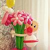 Малышка-малыш с букетиком на выписку фигуры из шаров в Павлодаре
