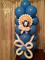 Малыш на выписку фигуры из шаров в Павлодаре, фото 1