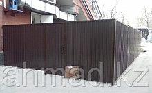 Заборы из профнастила  с полимерным покрытием Алматы