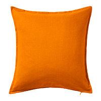 Чехол на подушку 50х50 ГУРЛИ оранжевый ИКЕА, IKEA  , фото 1