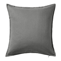 Чехол на подушку 50х50 ГУРЛИ серый ИКЕА, IKEA  , фото 1