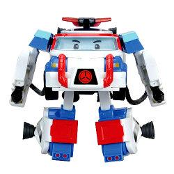 Robocar Poli Поли-трансформер с костюмом астронавта, 10 см