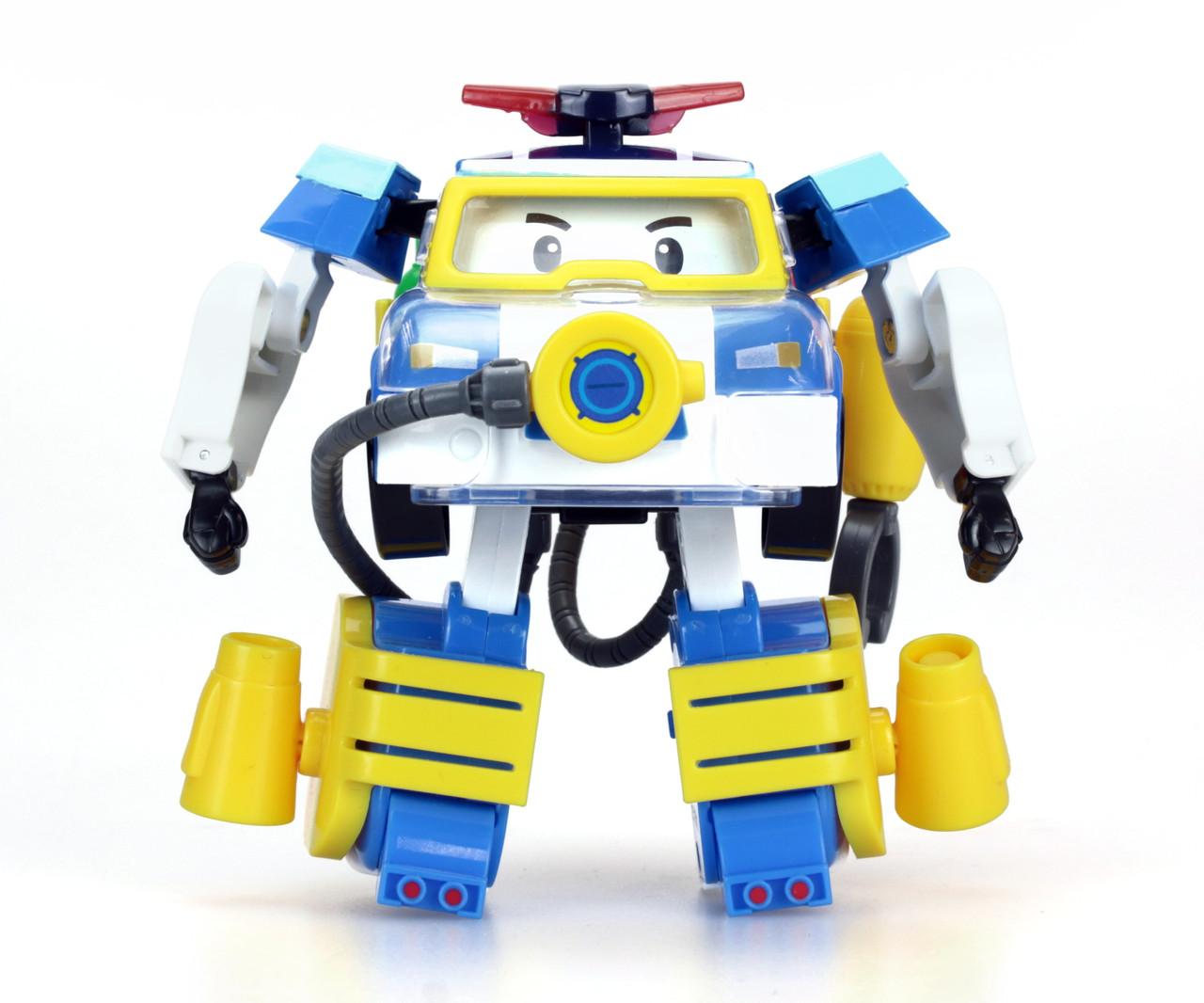 Robocar Poli Поли-трансформер с костюмом водолаза, 10 см