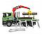 Bruder Игрушечный Лесовоз Scania с портативным краном и брёвнами (Брудер), фото 3