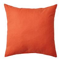 Подушка 50х50 ВАЛЬБЬЁРГ оранжевый ИКЕА, IKEA  , фото 1