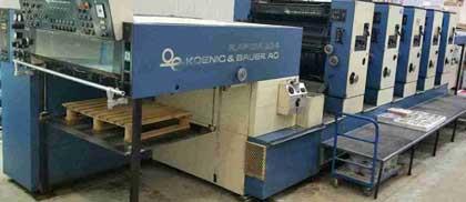 KBA Rapida 104-5 б/у 1990г - пятикрасочная печатная машина
