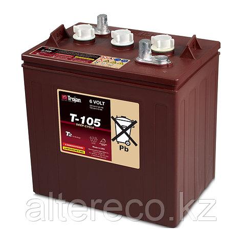 Тяговый аккумулятор Trojan T-105 (6В, 225Ач), фото 2