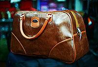 Женская лакированная сумка (коричневая)