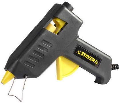 "(2-06801-60-11_z01) Пистолет STAYER ""PROFI"" термоклеящий электрический, 60Вт/220В, 11мм"