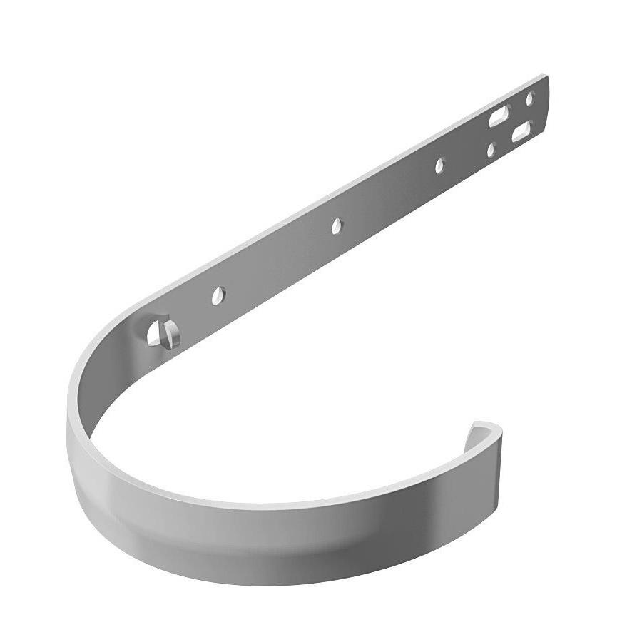 Кронштейн желоба длинный металлический VERAT Белый Ø120