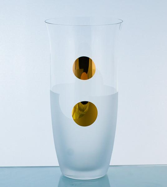 Ваза 25,5 см, золотой круг, матовое дно 82505-SB656-255