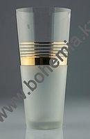 Ваза 29 см, золотые полоски, матовое дно 82557-MA397-290