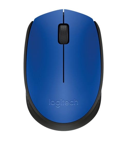 Logitech 910-004640 M171 мышь беспроводная Blue