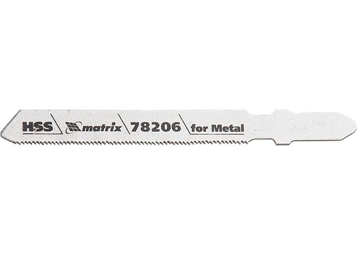 (78206) Полотна для электролобзика  по металлу, 3 шт. T118G, 50 х 0,8мм, HSS // MATRIX Professional
