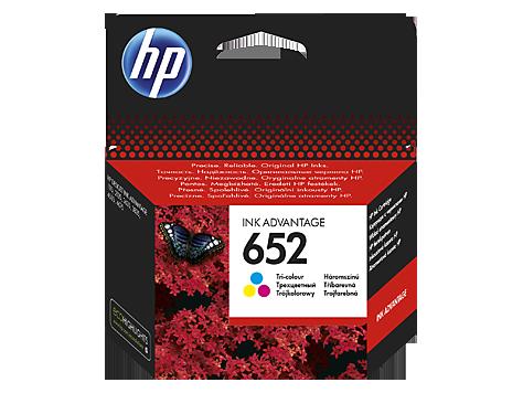 HP F6V24AE  Оригинальный струйный картридж Ink Advantage, Трехцветный HP 652