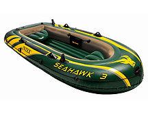 Лодка Seahawk 3 трехместная  до 300 кг 295*137*43 см Intex (68349)