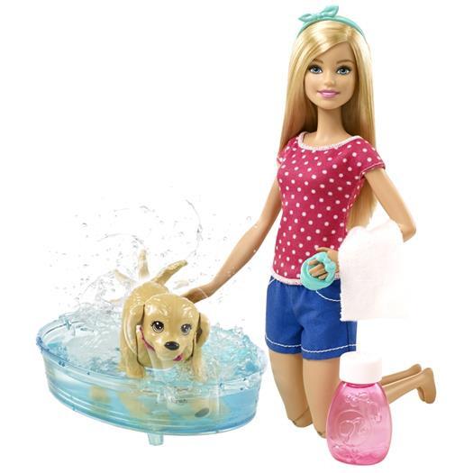"""Barbie Игровой набор """"Водные забавы"""", Барби с щенком"""