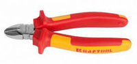 """Бокорезы KRAFTOOL """"ELECTRO-KRAFT"""", Cr-Mo сталь, двухкомпонентная рукоятка, хромированное покрытие, 160мм"""