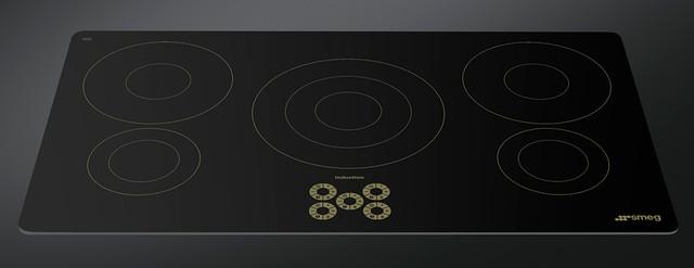 Встраиваемая варочная поверхность индукционная на 90см SMEG SI955DO