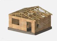 Д2-Строительство дачного дома 30 м2, высота потолка 2,5 метра