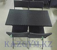 Складной стол прямоугольный с 4 стульями , фото 1