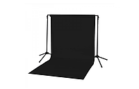 Студийный фон черный 1.8*2.7 метров