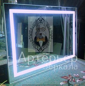 Большое зеркало с подсветкой, категория Эконом 1