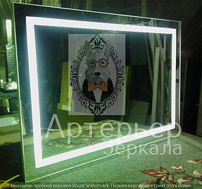 Большое зеркало с подсветкой, категория Эконом 2