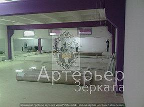 Установка зеркал для спортивного зала 3