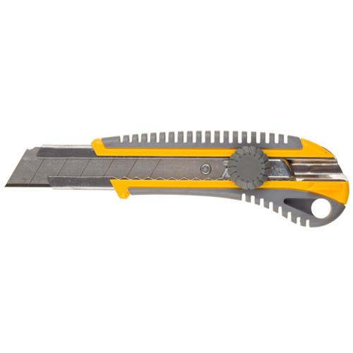 """(09141) Нож STAYER """"PROFI"""" механический фиксатор, двухкомпонентный корпус, 25мм"""