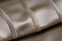 Портьерная ткань для штор, вышивка, атлас в полоску