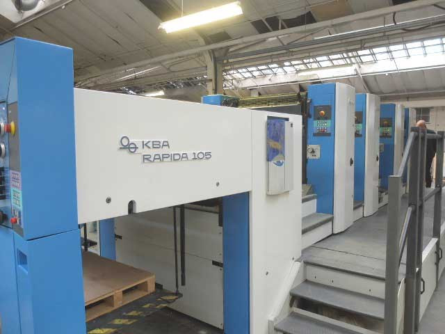 KBA Rapida 105-4 б/у 2001г - четырехкрасочная печатная машина