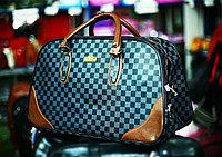 Женская сумка-саквояж ( в клетку)