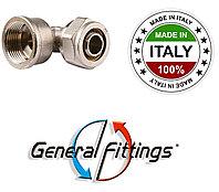 Уголок для металлопластиковой трубы с внутренней резьбой 20х3/4 General Fittings