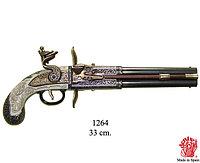 Двуствольный поворотный пистолет, производства W.Bailes, Великобритания, 1750