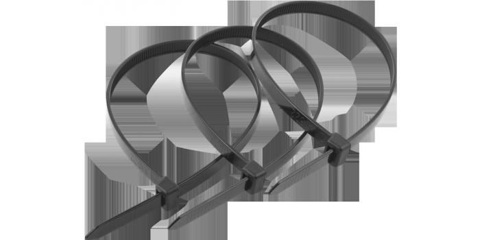 (4-309037-48-300) Хомуты ЗУБР нейлоновые, в п/э пакете, тип 7, черные, 4,8ммх300мм, 25шт