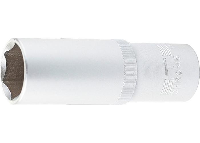 """(13849) Головка торцевая удлиненная, 17 мм, 6-гранная, CrV, под квадрат 1/2"""", // STELS"""