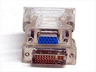 Переходник Dvi-I 24+5pin papa - VGA 15pin mama