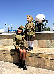 Детская юбка цвета хаки