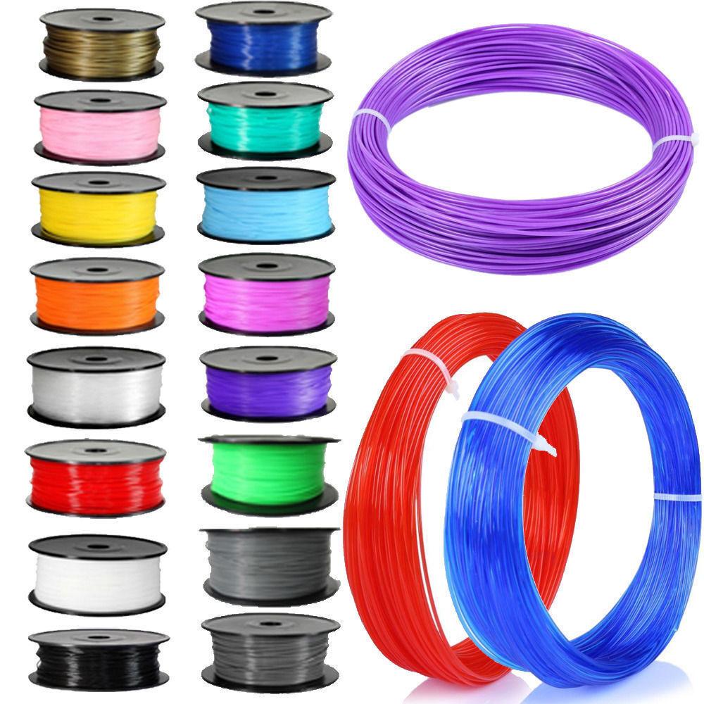 Набор пластика для 3D ручек  80м ABS пластика в различных цветах + бонус! - 4м светящегося пластика!