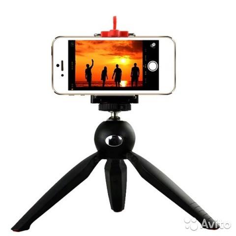 Настольный штатив Yunteng 228 для GoPro/смартфона с крепление