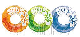 Intex Надувной круг БЛЕСТЯЩИЙ с ручками, (асс. 3 цвета), диаметр 76 см