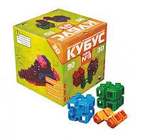 Конструктор Кубус 3D №3 зеленая упаковка 90 элементов, фото 1