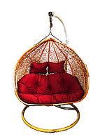 Подвесное двухместное кресло, 130 * 200 см, красный