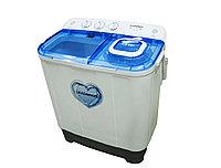 Стиральная машина, 5 кг, 67*40*80 см, бело-голубой