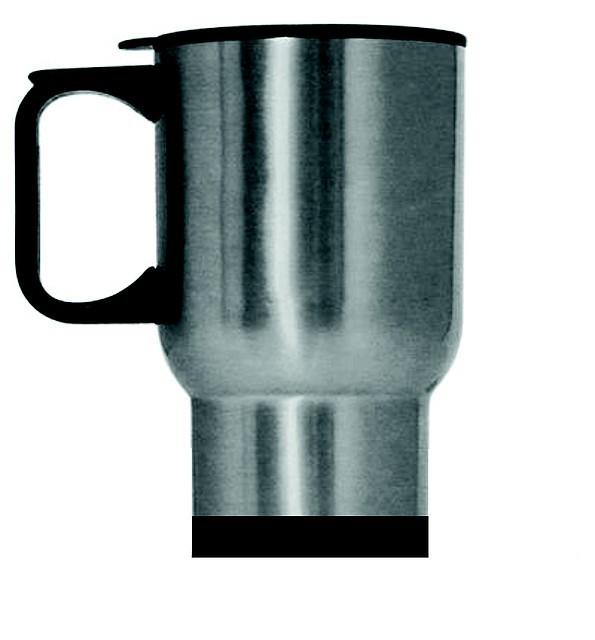 Кружка-термос с крышкой, металлик